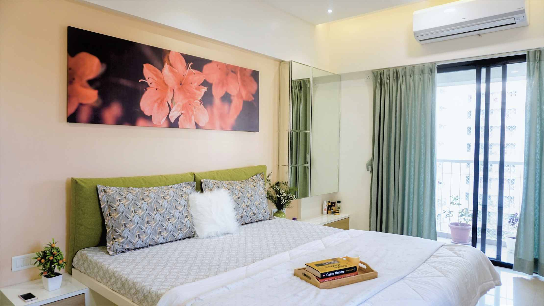 master bedroom interiors of 3bhk kalpataru serenity mundhawa pune 1