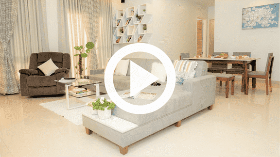 living room interior design of 3bhk raheja vistats, nibm annex, pune